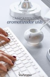 Aromatizador De Ambientes USB Portátil - Via Aroma