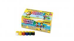 Tempera Guache Com 6 Cores - 15ml Acrilex