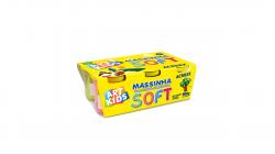 Massinha Massa De Modelar 6 Cores Soft Acrilex - 900g