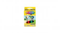 Cola Colorida  Acrilex 4 Potes 23G Cada