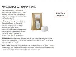 Aromatizador Elétrico Porcelana Com 6 Essências 10Ml Via Aroma