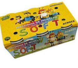 Massinha Massa De Modelar 6 Cores Soft Acrilex