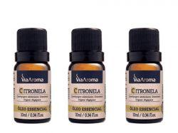 Kit 3  Óleo Essencial Citronela 10Ml Via Aroma
